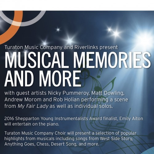 Turaton Music Company and Riverlinks present Musical Memories and More - Sundays at Eastbank