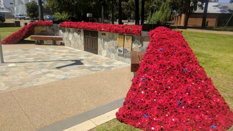 """A Few Thousand Poppies Project"" at Tatura War Memorial"