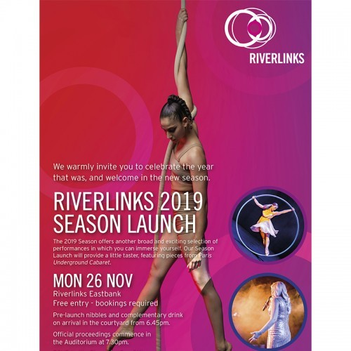 Riverlinks and Greater Shepparton City Council present The 2019 Riverlinks Season Launch