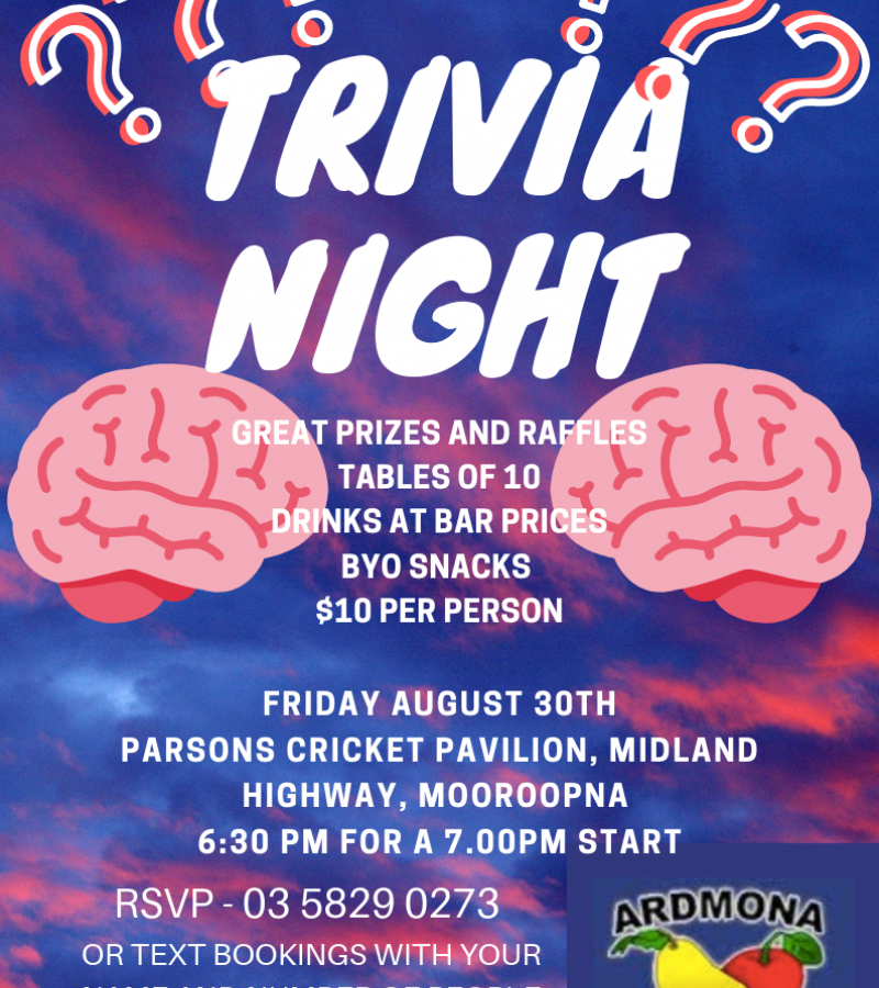 Ardmona Primary School Trivia Night