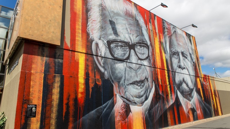 Aboriginal Street Art Project - William Cooper and Pastor Sir Douglas Nicholls Mural
